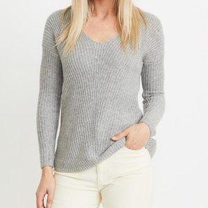 Marine Layer Elisa gray ribbed knit sweater